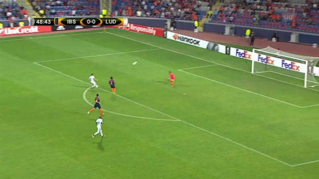 Video «Basaksehir und Ludogorets trennen sich 0:0» abspielen