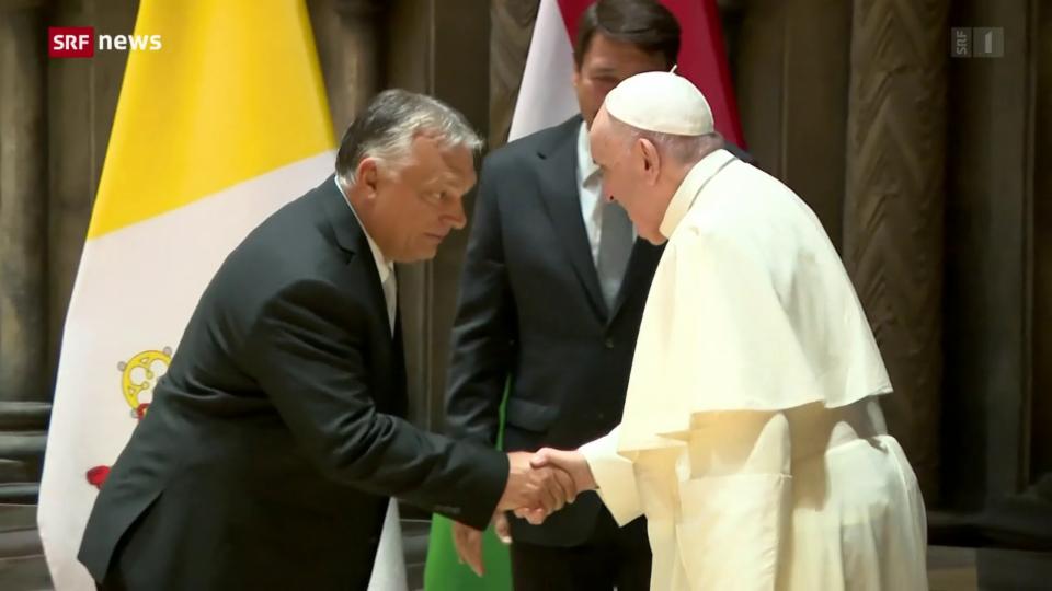 Papst Franziskus trifft ungarischen Regierungschef Orban