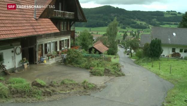 Video «Neue Überschwemmungen im Kanton Bern» abspielen