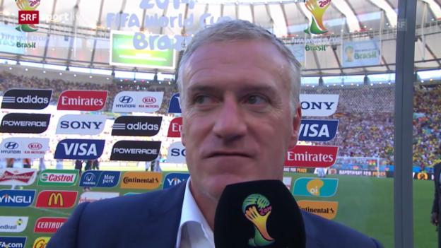 Video «Fussball: WM, Interview mit Deschamps» abspielen