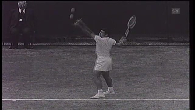 Tennis: Jaroslav Drobny siegt 1954 in Wimbledon