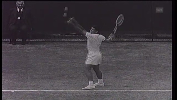 Video «Tennis: Jaroslav Drobny siegt 1954 in Wimbledon» abspielen