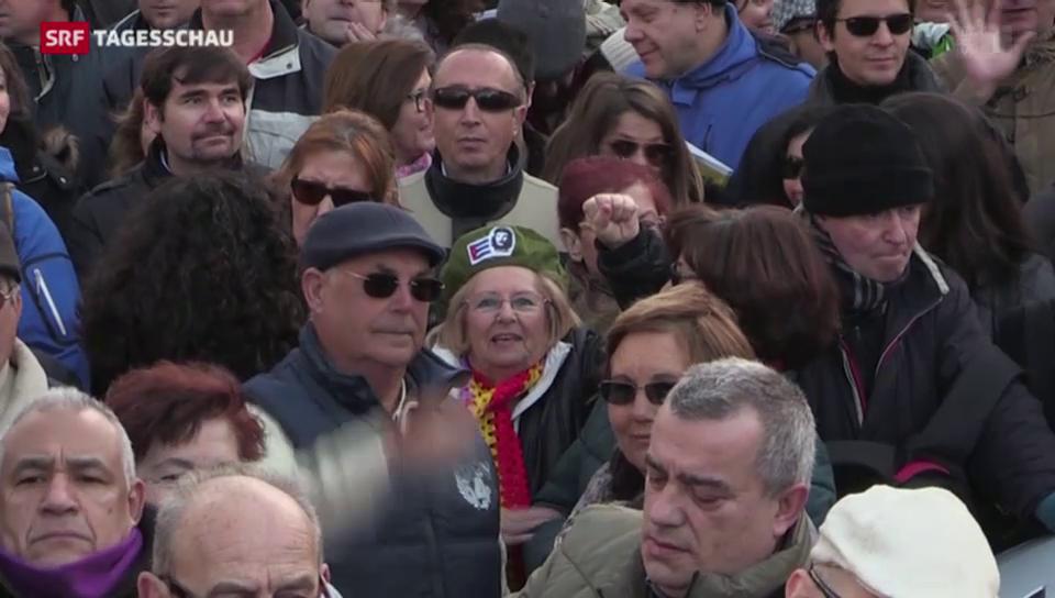 Spanier protestieren gegen Sparpolitik