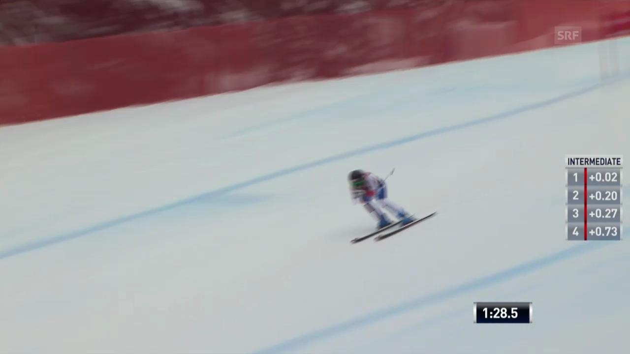Ski Alpin: Weltcup-Abfahrt in Lake Louise, Fahrt von Lara Gut