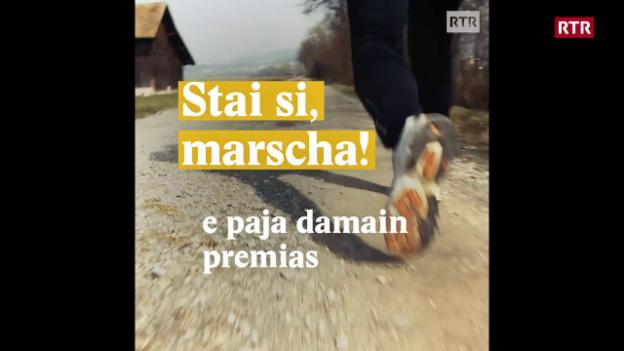 Laschar ir video «Stai si, marscha! E paja damain premias»