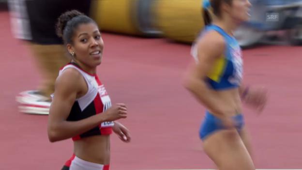 Video «Leichtathletik: Mujinga Kambundji läuft Schweizer Rekord» abspielen