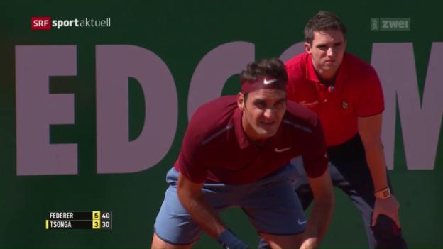 Video «Federer scheitert in Monte Carlo an Tsonga» abspielen