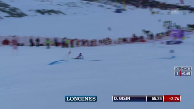 Video «Der 1. Lauf von Dominique Gisin» abspielen
