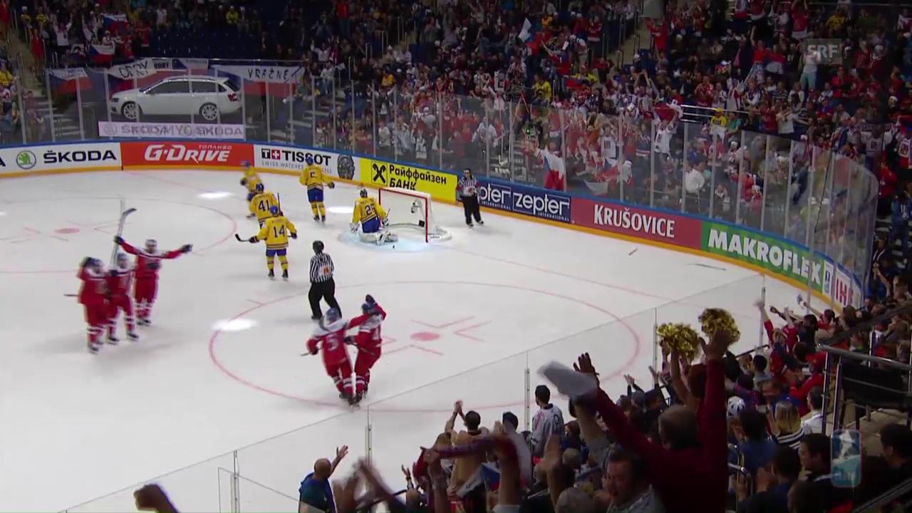 Tschechien mit grosser Aufholjagd gegen Schweden