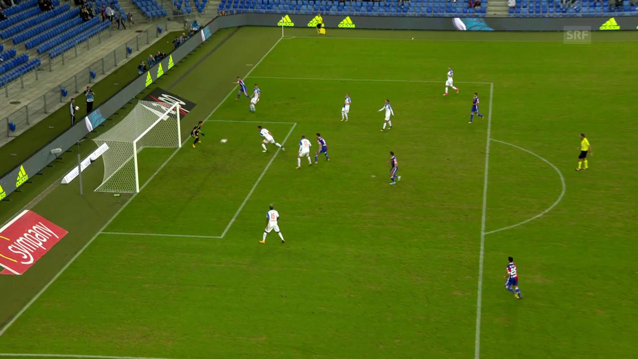Das Eigentor von GC-Captain Milan Vilotic gegen Basel