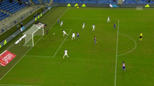Video «Das Eigentor von GC-Captain Milan Vilotic gegen Basel» abspielen