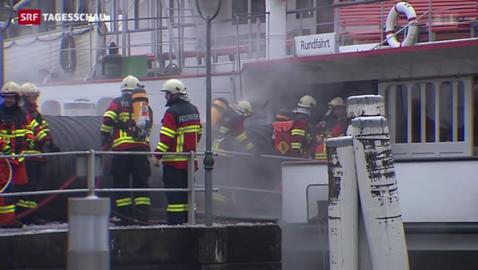 Brand auf Dampfschiff