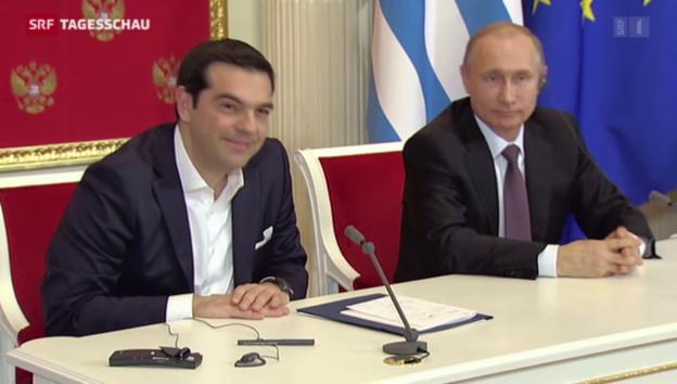 Video «Tsipras besucht Putin in Moskau» abspielen