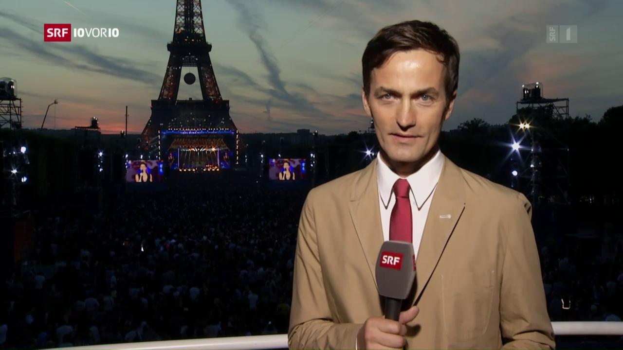 Michael Gerber in der grössten Fanzone in Paris