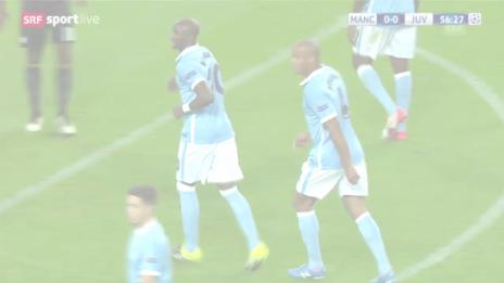 Video «Fussball: Champions League, ManCity-Juventus, Tor zum 1:0» abspielen
