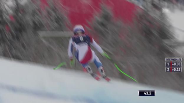 Video «Ski alpin: Weltcup Männer, Abfahrt Kitzbühel, Fahrt Janka» abspielen