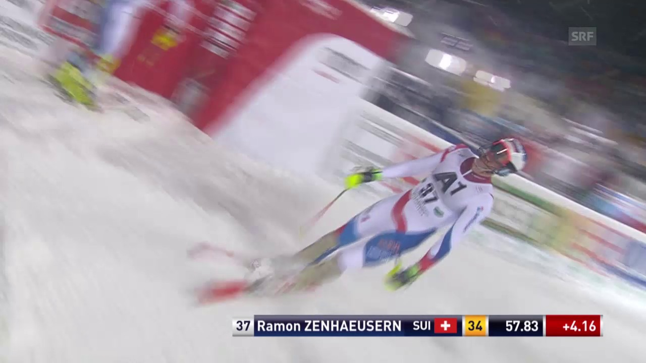 Ski Alpin: Slalom in Schladming, 1. Lauf Zenhäusern