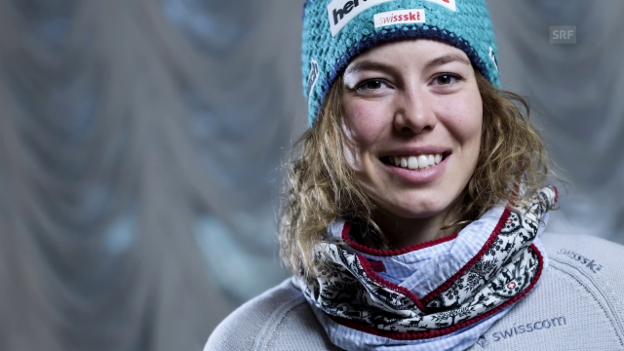 Video «Skirennfahrerin Michelle Gisin über Frauenprobleme im Leistungssport» abspielen