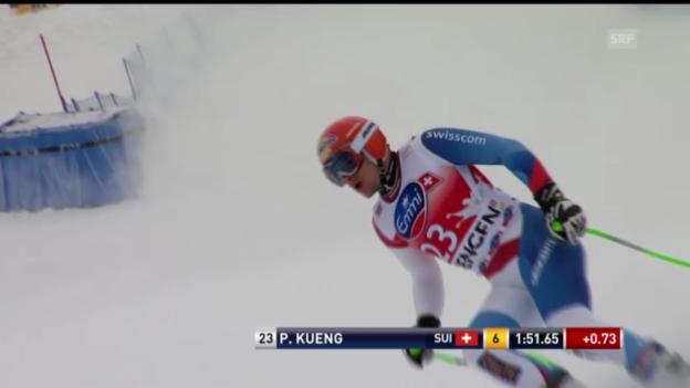 Video «Ski alpin: Patrick Küng im 1. Training zur Lauberhorn-Abfahrt (unkommentiert)» abspielen