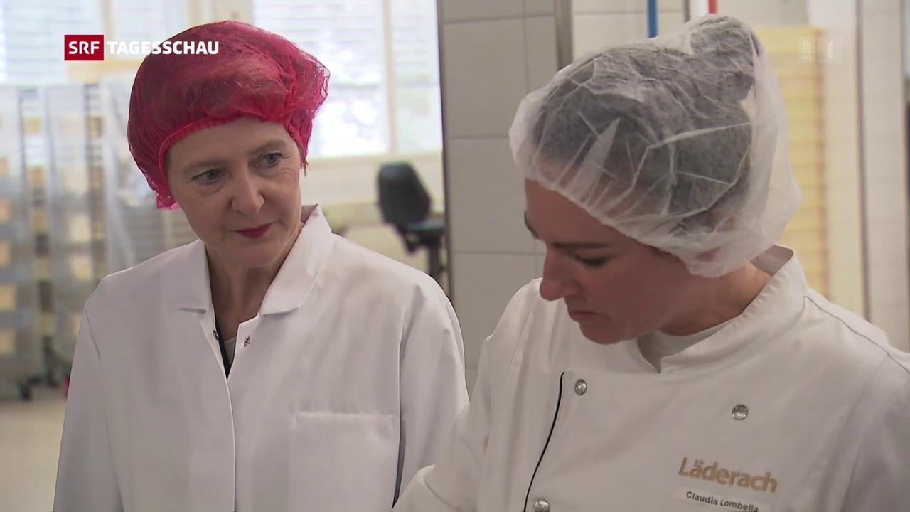Sommaruga in der Schokoladen-Fabrik