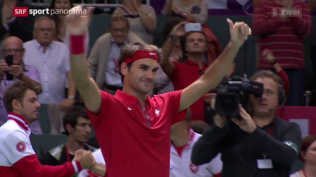 Tennis: Davis-Cup-Barrage, Federer-De Bakker