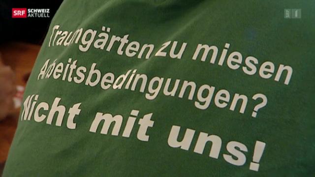 In Schaffhausen streiken Gärtner für höhere Mindestlöhne