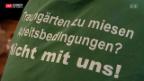 Video «In Schaffhausen streiken Gärtner für höhere Mindestlöhne» abspielen