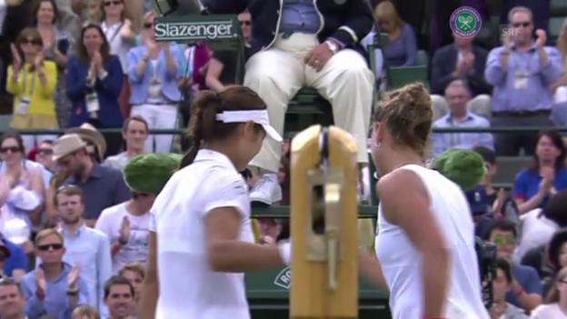 Video «Tennis: Matchball Li - Zahlavova Strycova (Quelle: SNTV)» abspielen