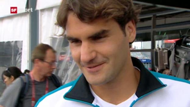 Video «Roger Federer über die Geburt seiner Zwillingsmädchen» abspielen