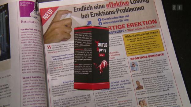 Video «Potenz aus der Dose: Erektionsspray im Härtetest» abspielen