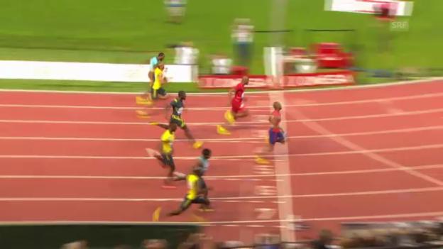 Video «Tyson Gays Lauf bei der Athletissima 2013» abspielen