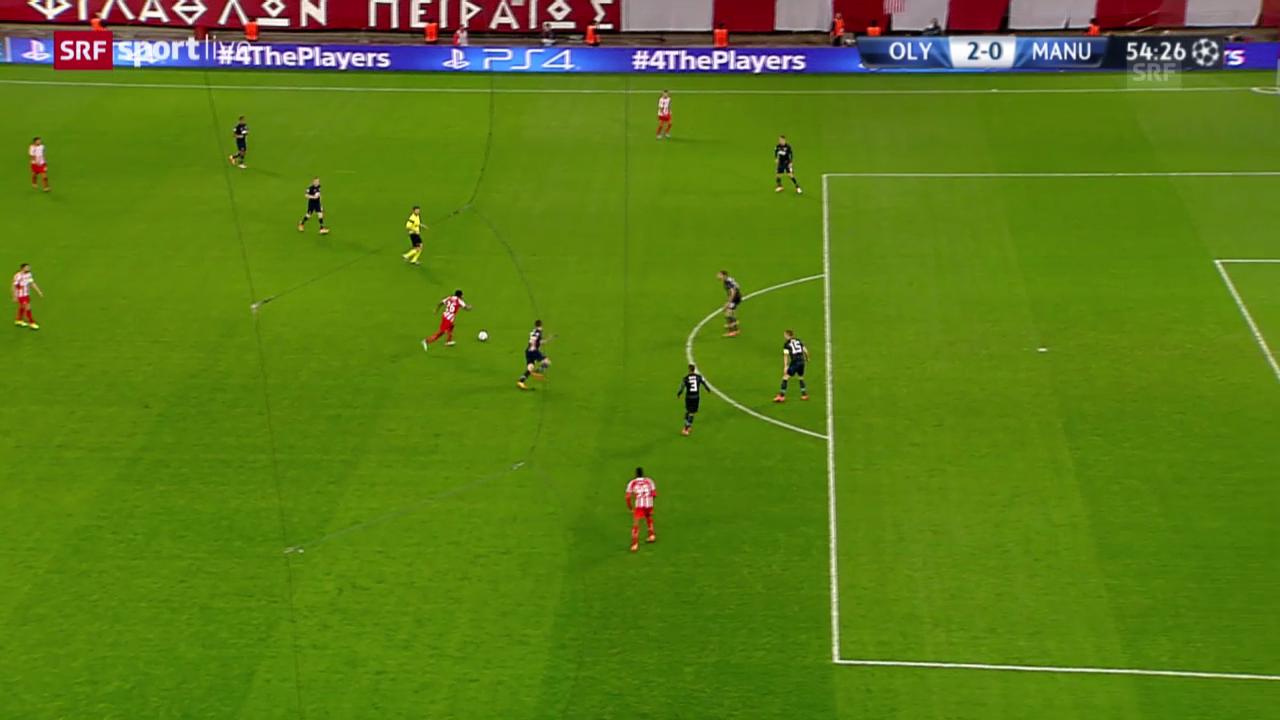 Fussball: Olympiakos Piräus - Manchester United: Die Tore («sportlive», 25.02.2014)