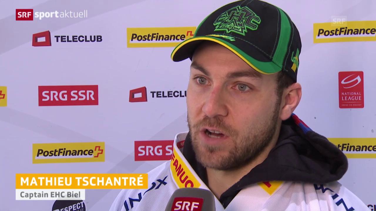 Eishockey: NLA Interviews Freiburg - Biel («sportaktuell»)