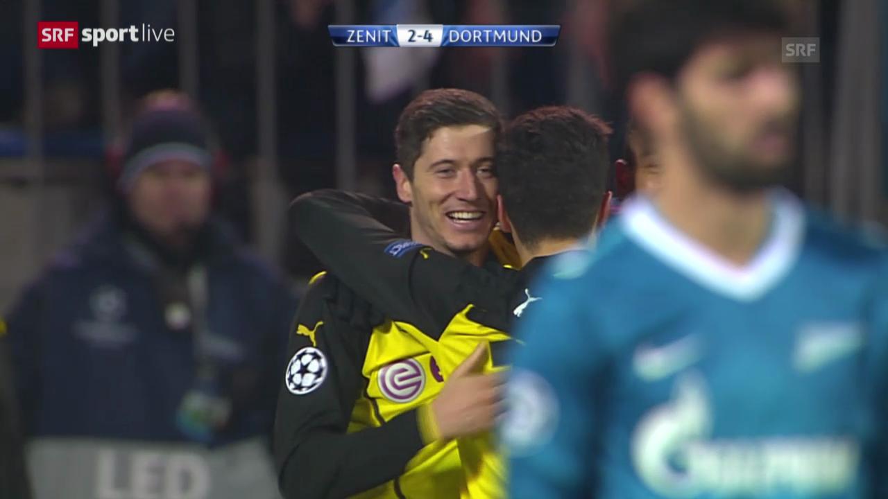 Fussball: Zusammenfassung Zenit - Dortmund («sportlive», 25.02.2014)