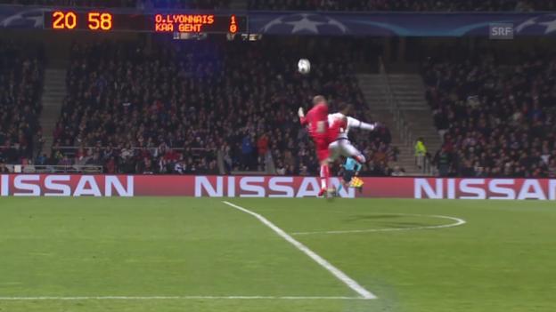 Video «Fussball: Lyon - Gent» abspielen