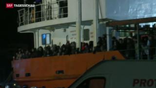 Video «Aus Bootsflüchtlingen werden Schiffsflüchtlinge» abspielen