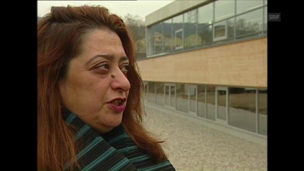 Video «Zaha Hadid über ihren Pavillon für die Landesgartenschau in Weil am Rhein (neXt vom 14.3.1999)» abspielen