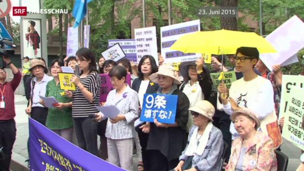 Video «Späte Entschuldigung bei asiatischen «Trostfrauen»» abspielen