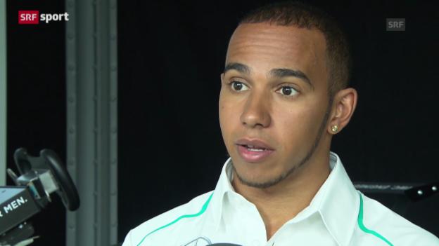 Video «F1: Lewis Hamilton in Schaffhausen» abspielen