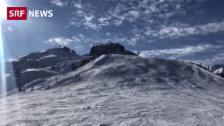 Link öffnet eine Lightbox. Video Wintersportler stecken auf dem Skilift fest abspielen
