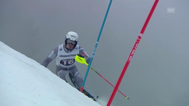 Video «Zusammenfassung Alpine Kombination in Wengen» abspielen