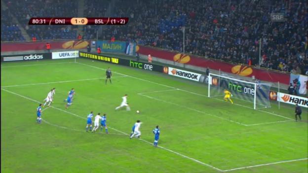 Video «EL: Die Penalty-Szenen bei Dnjepr gegen Basel («sportlive»)» abspielen
