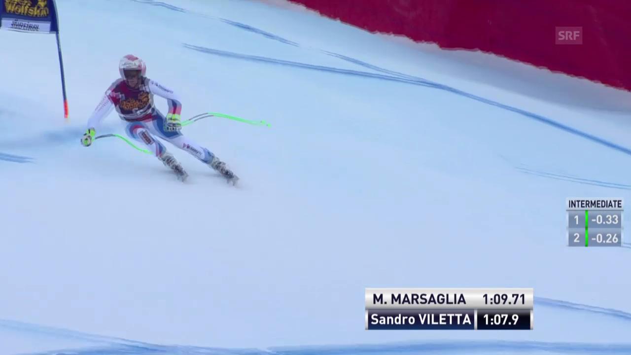 Ski alpin: Super-G in Gröden, Sandro Viletta
