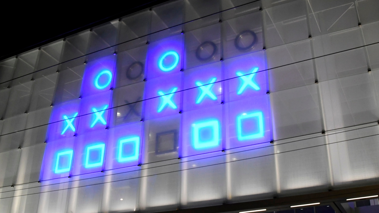 Die binäre Uhr - Kunst am Bau zum tüfteln...