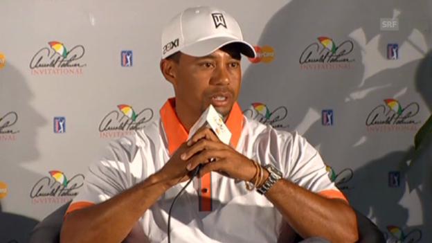 Video «Tiger Woods über seine Beziehung zu Lindsey Vonn» abspielen