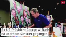 Link öffnet eine Lightbox. Video George W. Bush malt abspielen