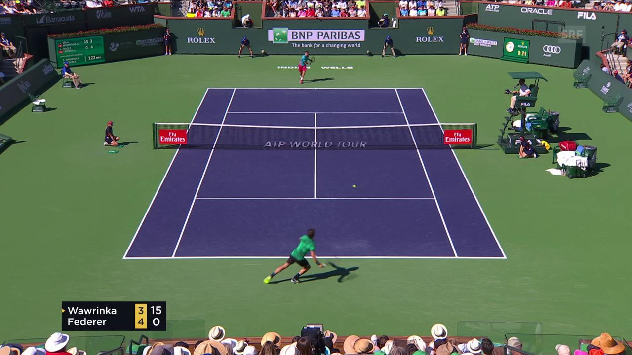 Der Match geht an Federer, dieser Punkt an Wawrinka