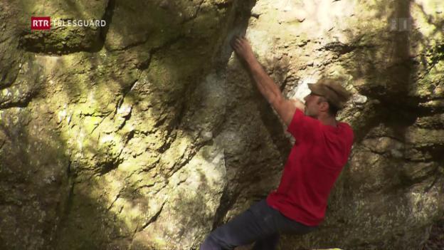 Laschar ir video «Silvan Dermond - la via enavos tar il bouldrar»