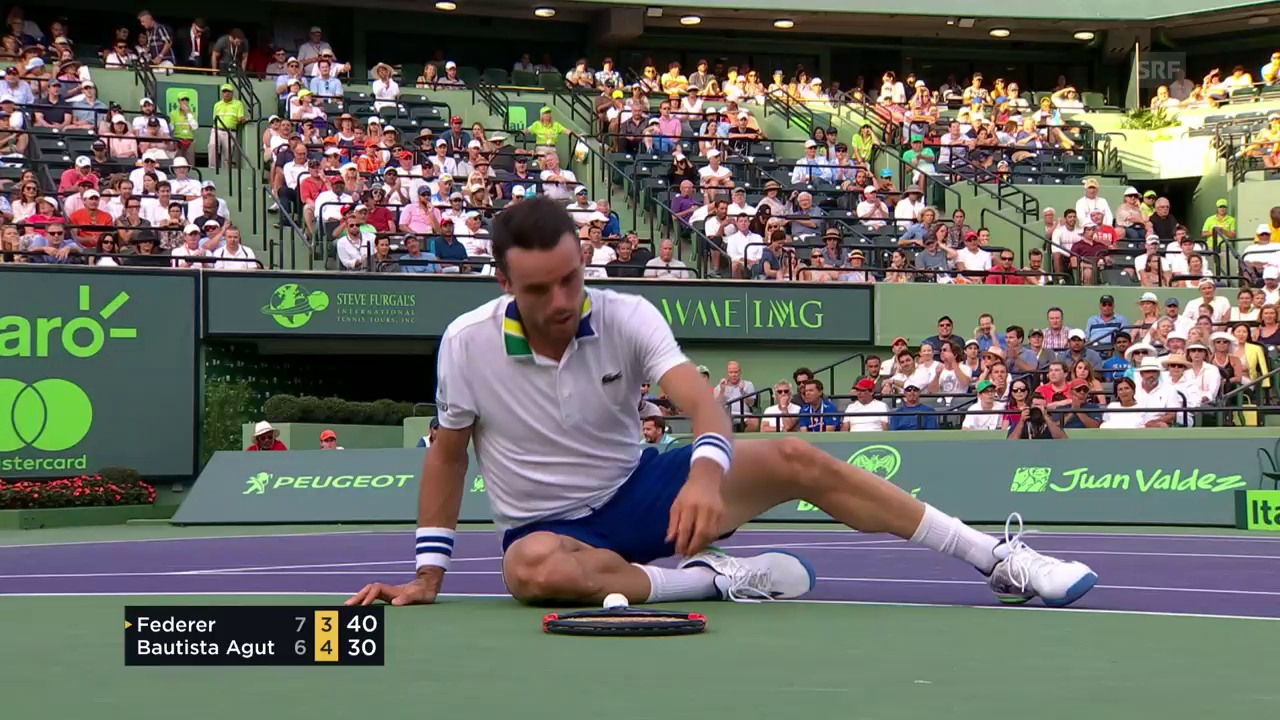 Federer - Bautista Agut: Die Live-Highlights