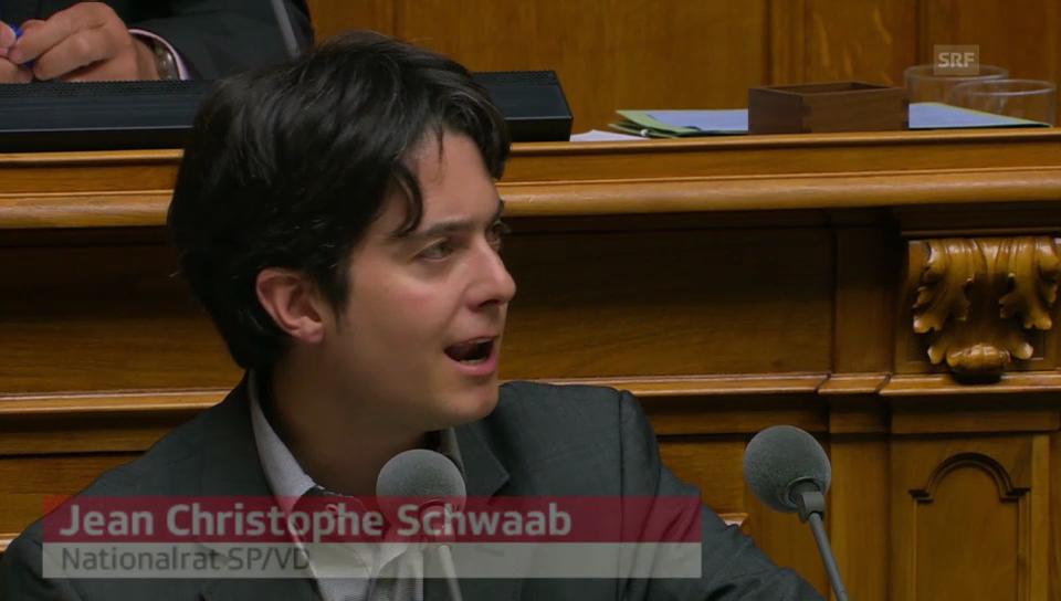 SP-Nationalrat Schwaab: «..wie Wein kaufen und dem Blauen Kreuz geben»